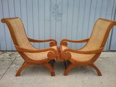 Pair of children chairs, Italy, early 20th century