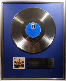 """The Beatles - Beatles for sale - 12"""" German Emi Odeon Record platinum plated record by WWA Awards"""