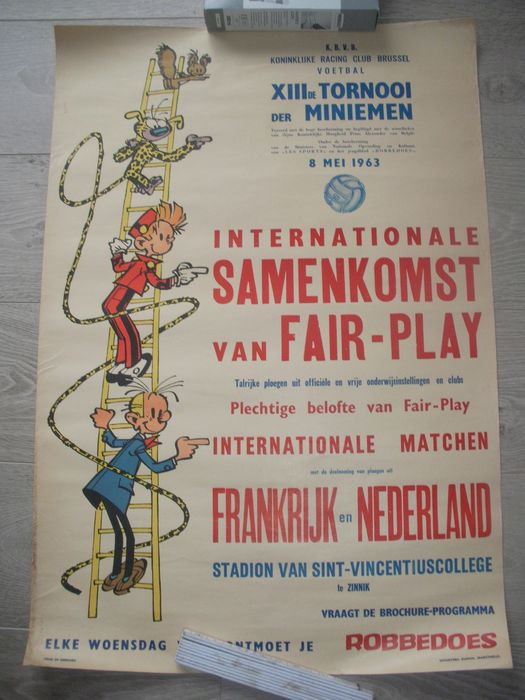 Franquin, André - Affiche - Mini football tournament - Spirou (1963)
