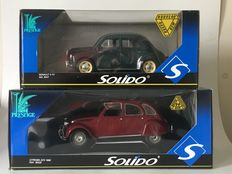 Solido - Scale 1/18 - Citroen 2CV and Renault 4CV