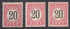 The Dutch Indies 1882 - Postage Number in black - NVPH P9A (type III), P9D (I) and P9D (III)