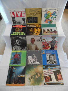 Great lot of 15 Rare Albums - In Blues, Soul, Jazz & Funk - In 17 Records - Under O. B.B King - Muddy Waters - Lou Rawls - Solomon Burke - and many others -