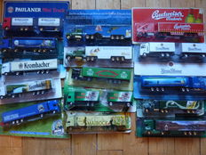 Divers - Scale 1/87 - Lot with 60 Models: 60 x Brewery Truck Collection Germany