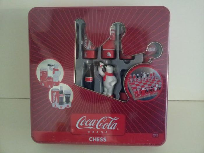 Coca Cola chess set in original packaging