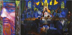 Ernst Fuchs - The Last Supper & Looking through Space (the golden nose)