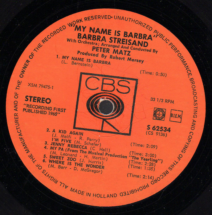 huge lot of 17 barbra streisand vinyl albums incl some rare ones in great condition 1964 1989
