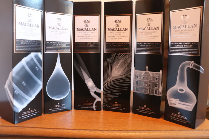 6 bottles - Macallan X-Ray Whisky Maker's Edition