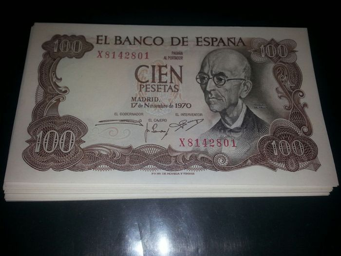 Spain - lot of 123 banknotes