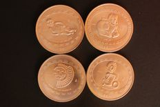 Mexico - 4 x bullion coinage - Pre-Columbian Teotihuacan Series