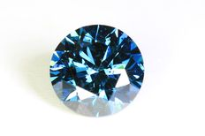 Blue diamond - 1.08 ct