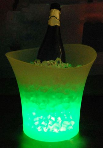 Design wine/champagne cooler equipped with lighting