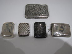 800 silver Matchboxes and cigarette case