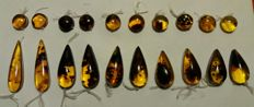 Chiapas women's amber earrings – lot of 5 pairs