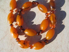 Baltic Amber set of necklace and bracelet, Lithuania, No Reserve Price