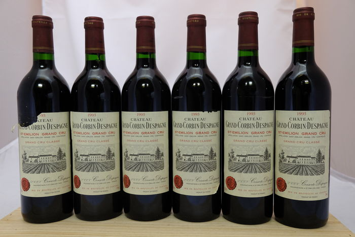 1993 Chateau Grand Corbin-Despagne, Saint-Emilion Grand Cru Classe, France, 6 bottles.