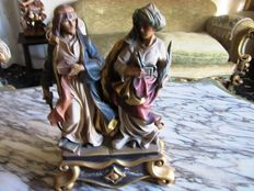 Wooden sculpture of Saints Cosma and Damiano, mid-20th century