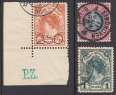 Netherlands 1893/1920 - Princess Wilhelmina Coronation Guilder and Winter issue - NVPH 47, 49, 104