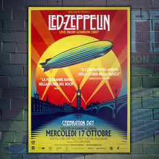 Original Movie Poster Led Zeppelin Live From London 2007 - Size: 100x140 CM