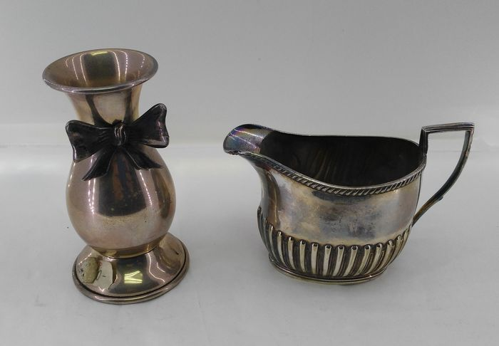 Lot of 2 pieces made of hallmarked 925 silver