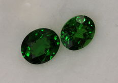 2 pcs Tsavorite Garnet - 1.56 ct in total