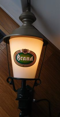 "Metal - plastic ""Brand bier"" round advertising lantern / 2nd half of the 20th century / the Netherlands"