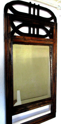 Large Art Deco wall mirror with Bevelled glass. 1930/40