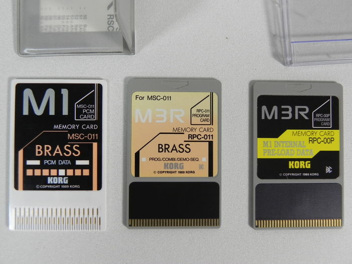 9 sets Korg M3r synthesizer cards and 1 loose memory card