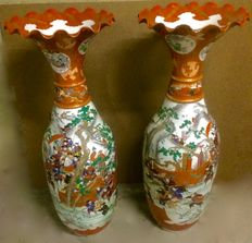 Two very large (100 cm) vases - Japan - approx. 1920