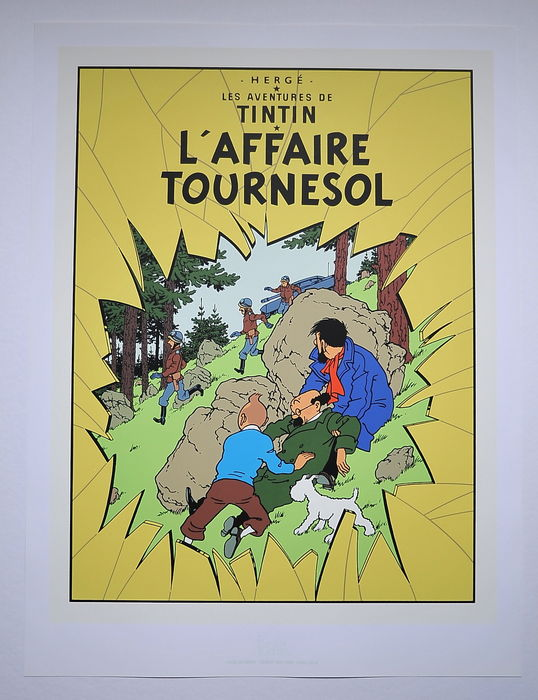 Tintin - Zeefdruk Escale - L'affaire Tournesol - (1987)