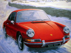 Art Print Exclusive Serie - Porsche 911 In Winter - Artist : Keith Woodcock