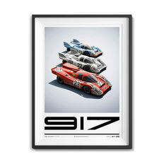 Porsche collection - fine art print - Porsche 917 family portret - 24 Heures du Mans - 70CM X 50CM
