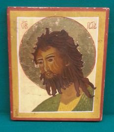 Greek icon 19th century hand painted