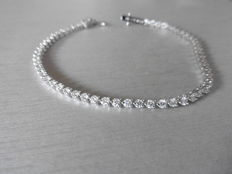 18k gold Diamond Tennis Bracelet - 2.70ct