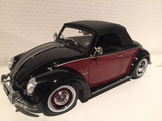 KK-Scale - Scale 1/18 - Volkswagen 1200 Hebmüller 1949 - Colour Black/Red