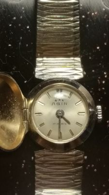 AGIR SWISSE – Wristwatch. Diamond model – White gold.