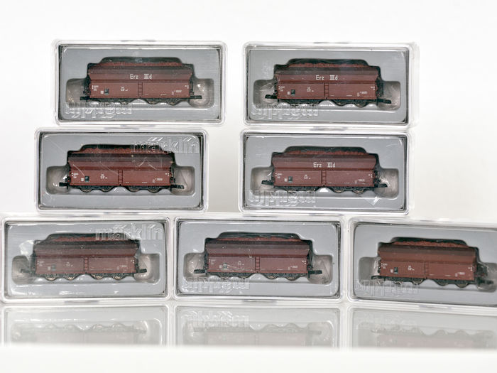 "Märklin Z - 86306/-17/-03/-01/-07/-08/-02/-09 - 7 four-axle ore carriages ""Langer Heinrich"""