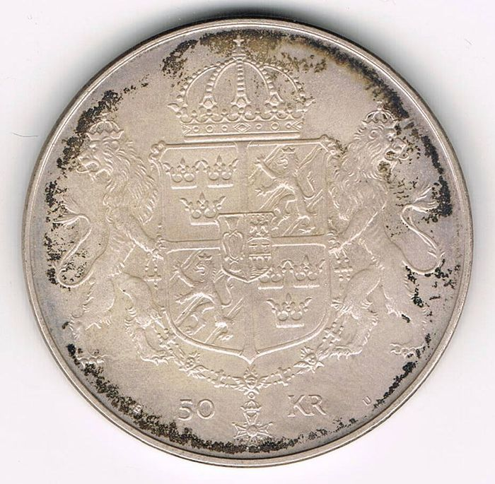 Sweden 50 Kronor 1976 Wedding Of King Carl Xvi Gustaf And Queen
