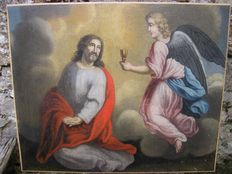Jesus with Angel, about 19th century