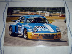 2 original photos Porche 911 RSR 90's
