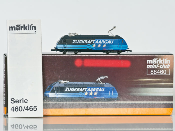 "Märklin Z - 88460 - Electrical locomotive series 460 ""Zugkraft Aargau"" of the SBB"