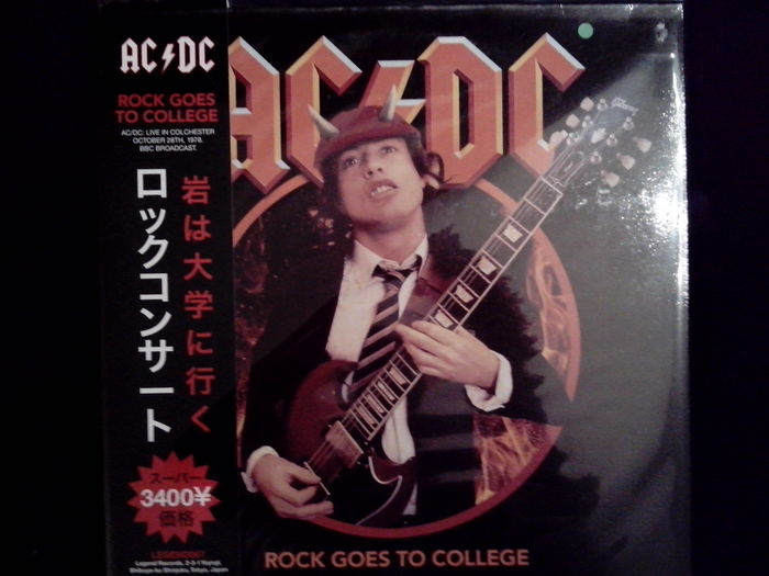 Lots of 3 Albums Of AC/DC, Rock Goes To College Color Green With Tourbook, 2 LP Live '79, Towson State College, Maryland 180 Grams, Ballbreaker
