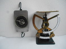 Large mail scales and Dutch Milk-balance - ca. 1910