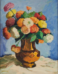 French school of the 20th cent. - Nature morte aux fleurs