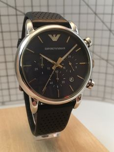 "EMPORIO ARMANI AR-1736  ""Chronograph""  – men's dress watch – 2017 -- -- used, mint condition."