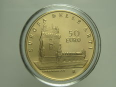 Italy — 50 Euro 2007 'Europa delle Arti — Portogallo' (Europe of the Arts — Portugal) — gold
