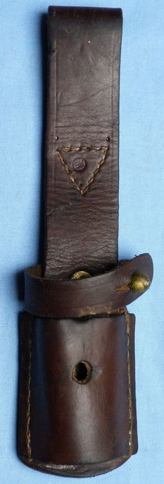 Yugoslav Model 1924 Leather Bayonet Frog used by Germans.  Dated to 1942 with German stamps