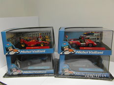 IXO-Altaya - Scale 1/43- lot with 4 x Michel Vaillant Sport: Leader F1, Leader Gengis Khan, Le Mans 92 and Orient