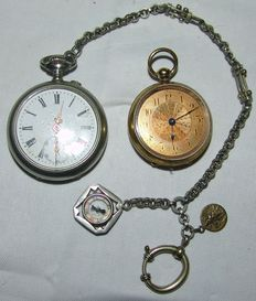Two men's pocket watches, 1920