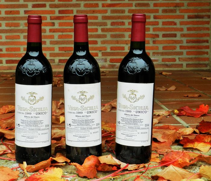 1989 Vega Sicilia Unico – 3 numbered bottles