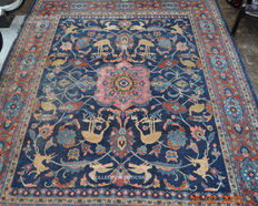 Large antique Persian Mahal rug, by Ahdad, 392 x 308.